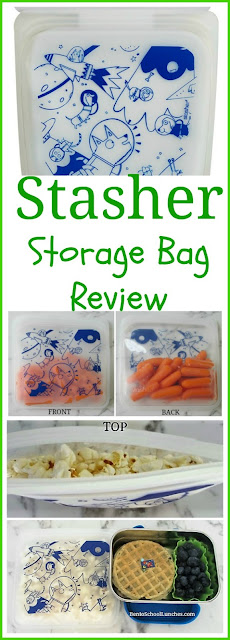 Stasher Storage Bag Review. Reusable and great for snacks.