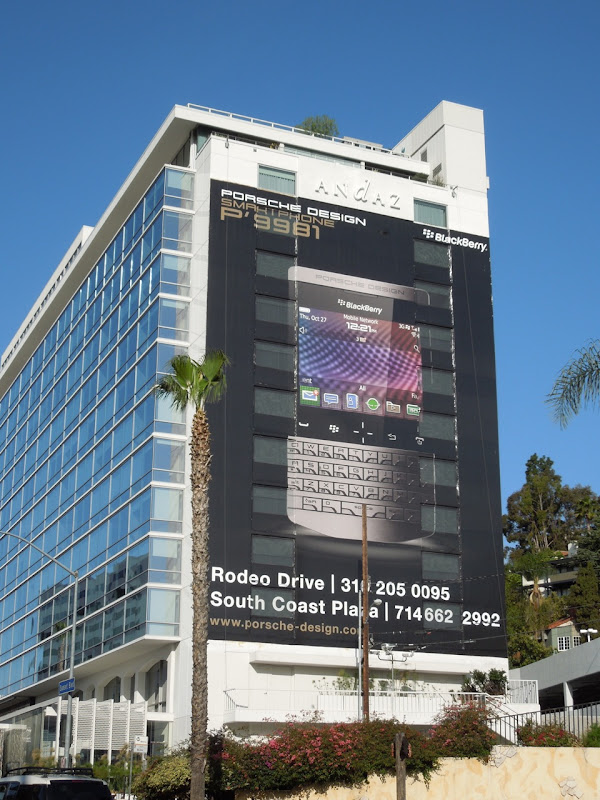 Blackberry Porsche billboard