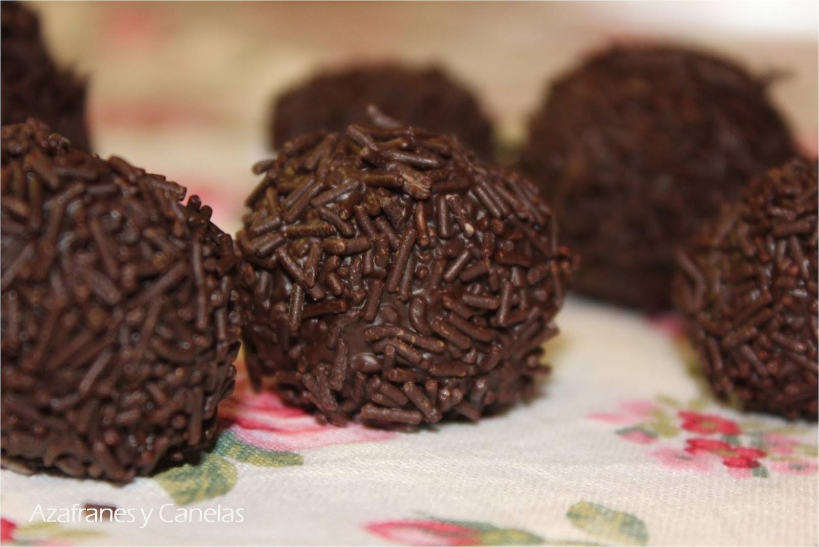 Trufas de chocolate  Azafranes y Canelas