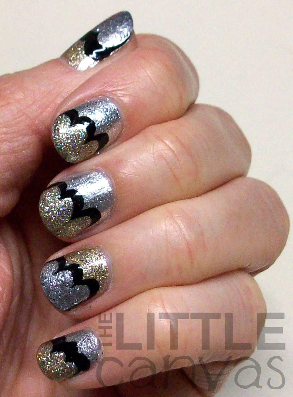 New Years Eve Manicure Metallic Clouds Take 2 The Little Canvas