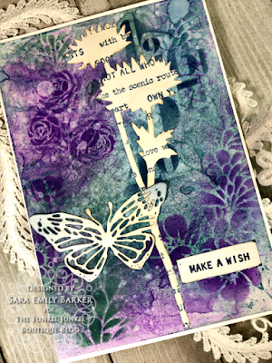 Sara Emily Barker https://sarascloset1.blogspot.com/2020/08/a-stenciled-mum-card-for-mom.html #stampersanonymous Mixed Media Card 5