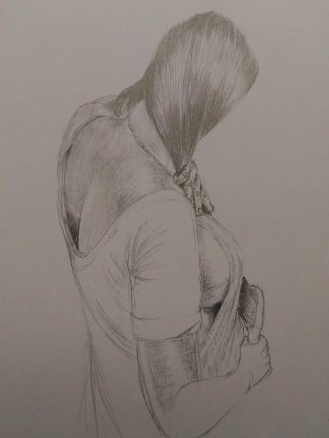 Women pencil sketch