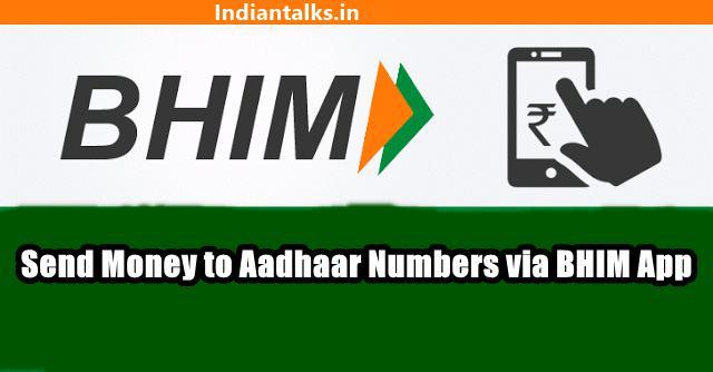Send and Receive Money using Aadhaar Number via BHIM App