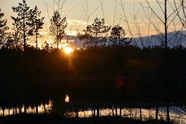 solnedgang aklangen