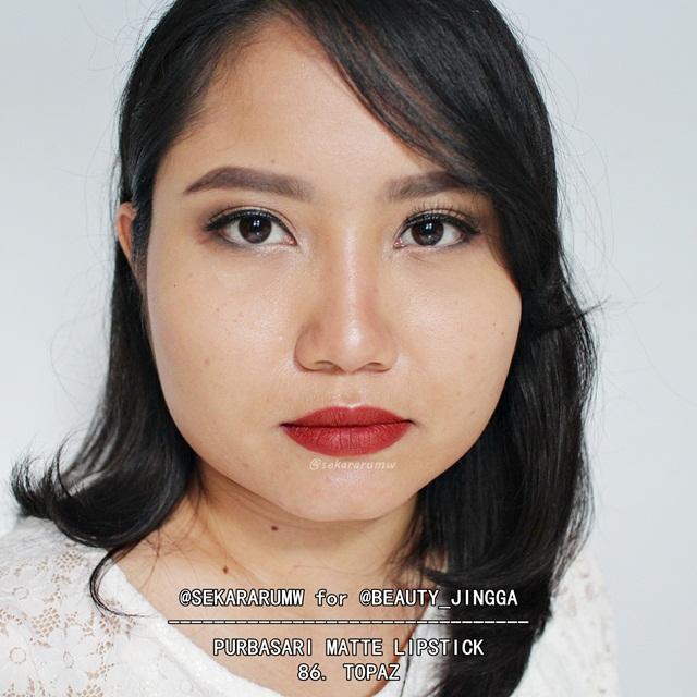 Purbasari Matte Lipstick 86 Topaz