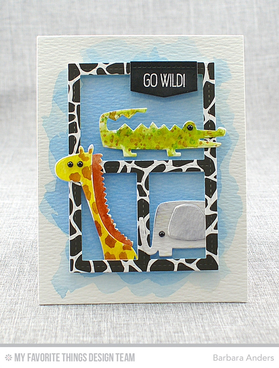 Handmade card from Barbara Anders featuring Jungle Friends stamp set and Die-namics and Blueprints 29 Die-namics #mftstamps