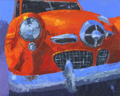 classic car studebaker bullet nose champion painting art automotive