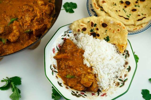 Pollo al curry tikka masala sin nata