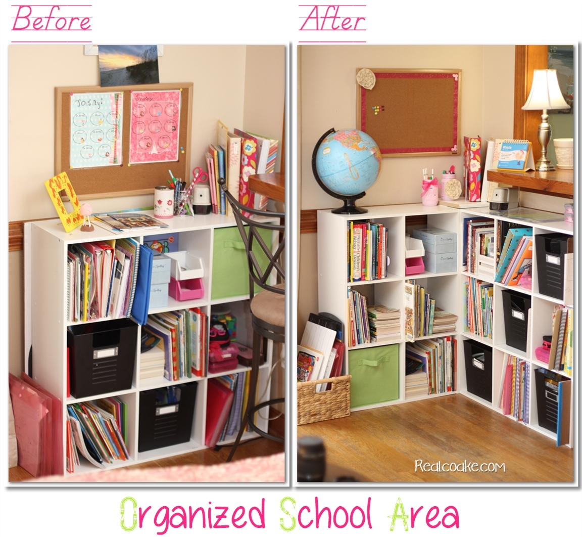 Homeschool Organization ~Our Newly Organized School 'room