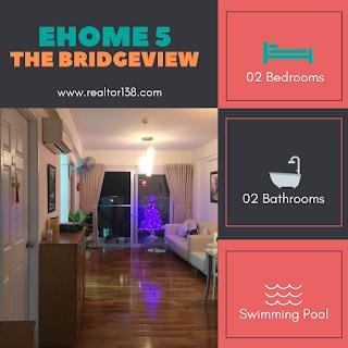 căn hộ ehome 5 the bridgeview 2 phòng ngủ