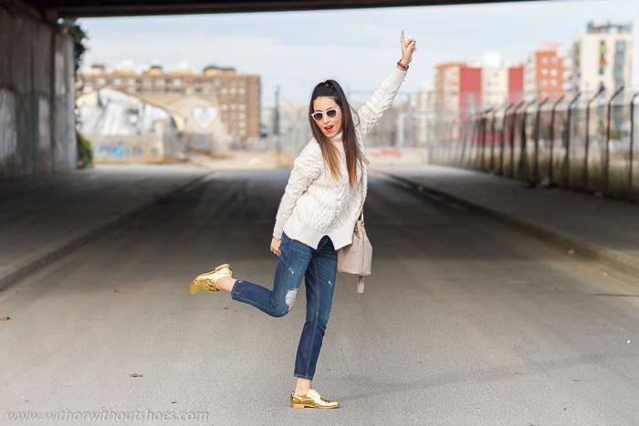 BLogger de moda valenciana famosa con look streetstyle divertida simpatica