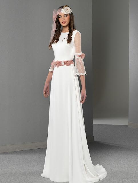 vestidos de novia romantico