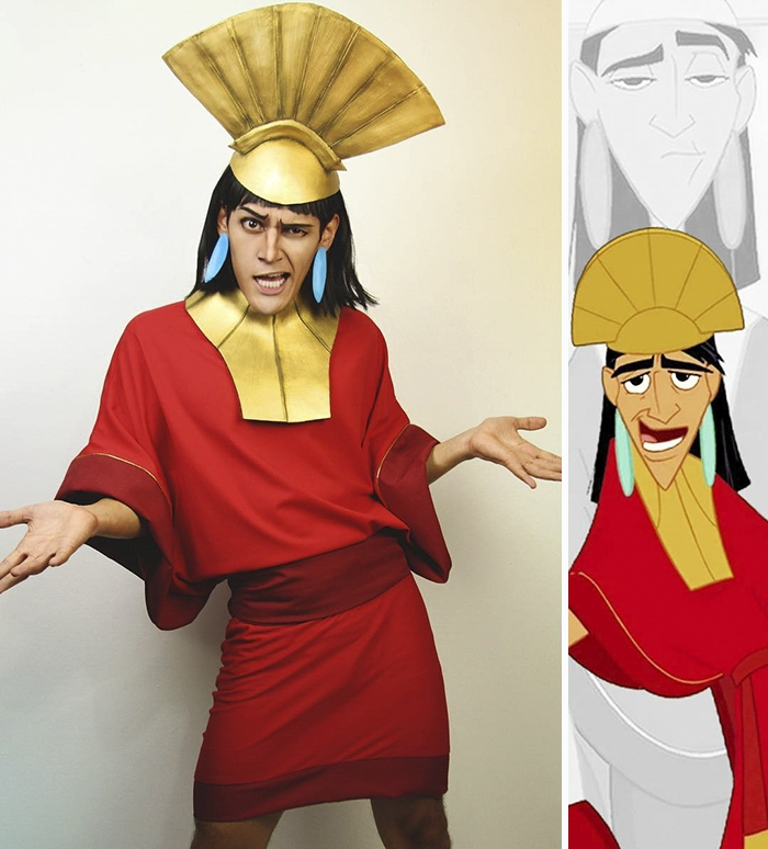 06-The-Emperor-s-New-Groove-Emperor-Kuzco-Jonathan-Stryker-Body-Paint-Cosplay-Transforms-into-Animations-and-Cartoons-www-designstack-co