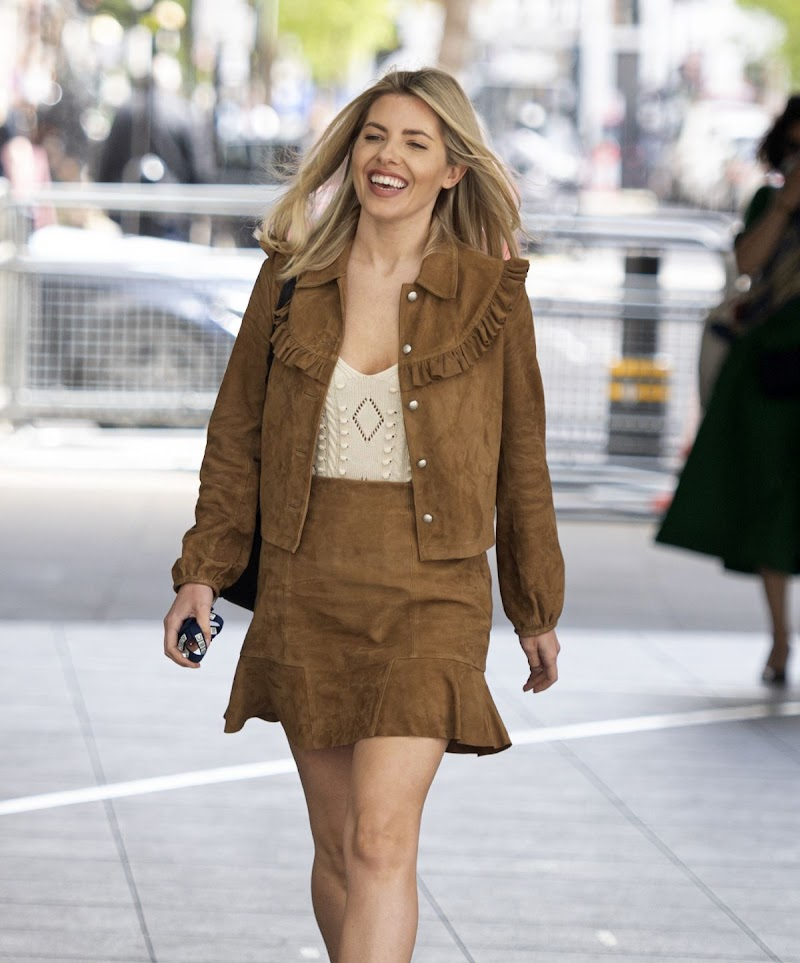 Mollie King Spotted at BBC Radio One Studio in London 9  May-2021