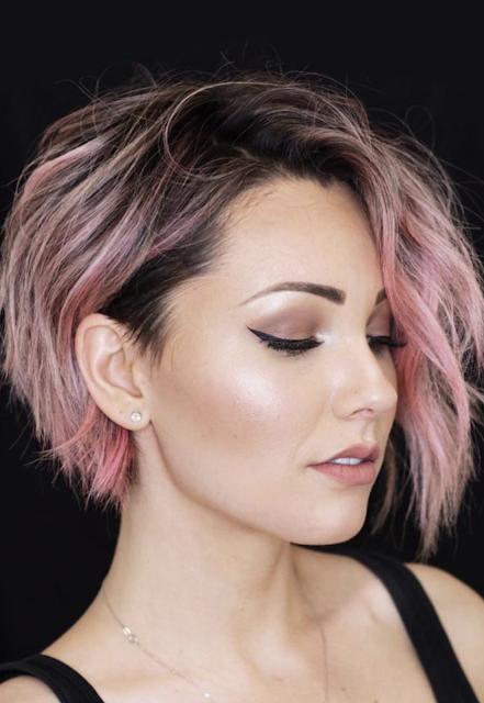 short hairstyles female 2019