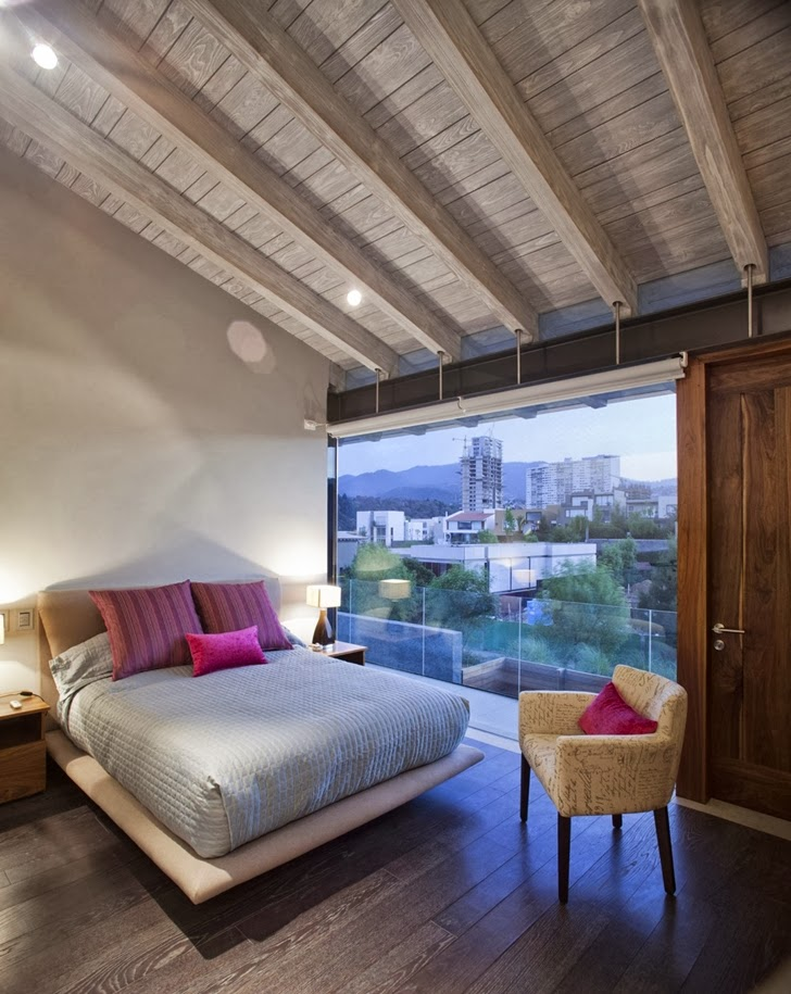 Second bedroom in Contemporary Casa Río Hondo in Mexico City