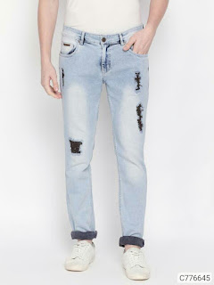 Denim Rugged Slim Fit Jeans