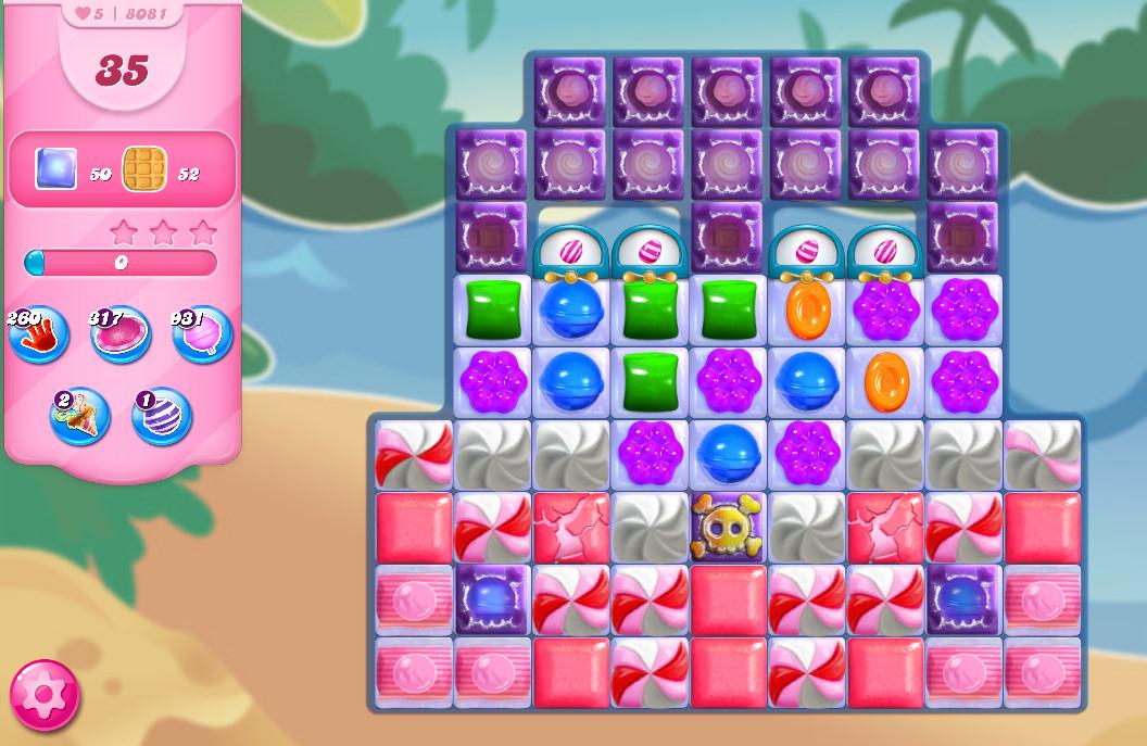 Candy Crush Saga level 8081