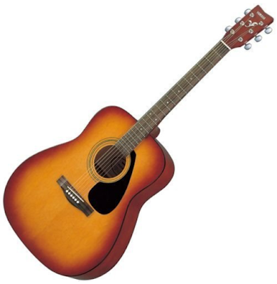 Yamaha F310-TBS Right Handed Acoustic Guitar with Cover for Student and Seasoned Players
