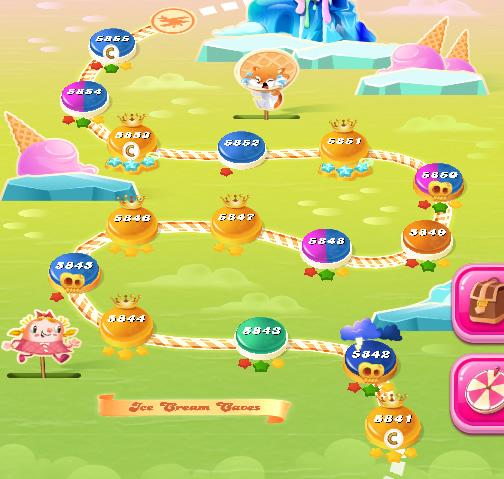 Candy Crush Saga level 5841-5855