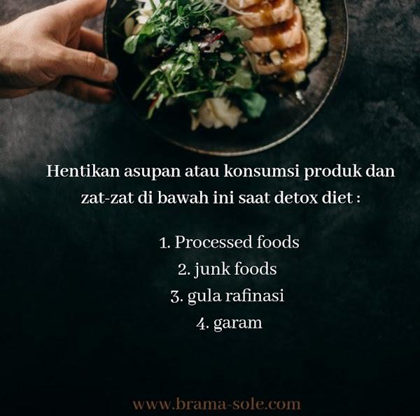 Hentikan asupan atau konsumsi produk dan zat-zat di bawah ini saat detox diet