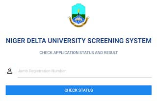 Niger Delta University Post UTME Result Checker