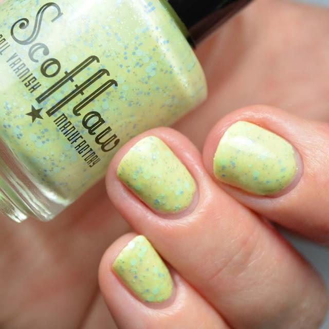 yellow crelly nail polish