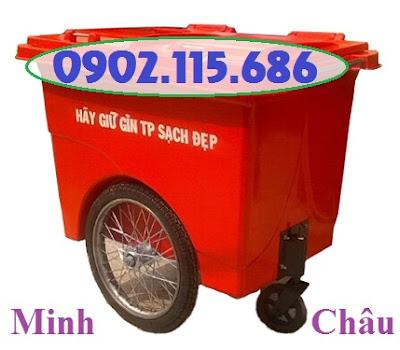 thung rac composite 660 lit 3 banh xe s2775 - Xe gom rác 660l 3 bánh hơi, Xe gom rác 660L nhựa composite, Xe chở rác 660L 3 bánh, Xe rác 660L nhựa 3 bánh,