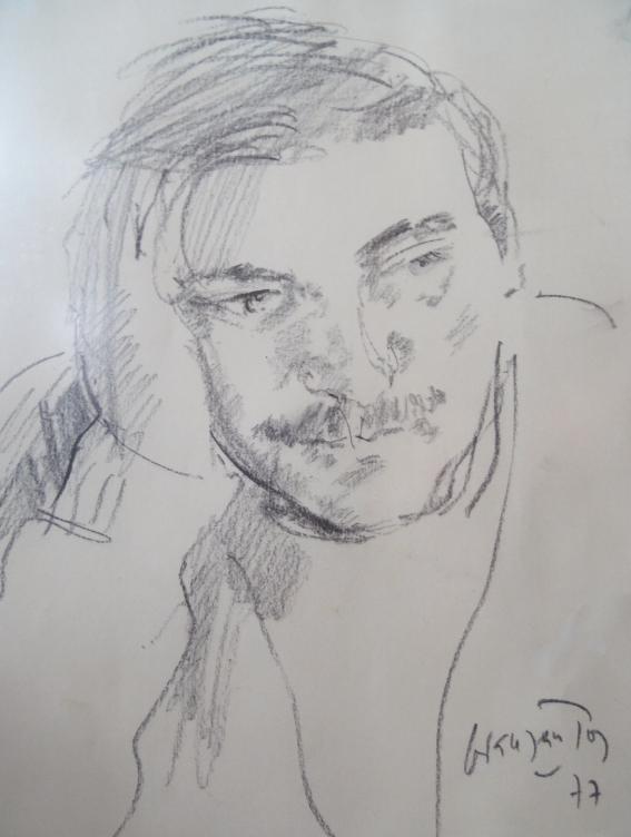 Retrato de Antonio Virtudes Gómez que figura en la contraportada del libro