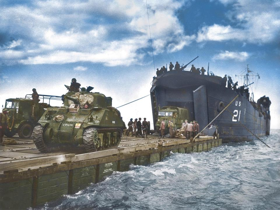D-Day in Color: Stunning Retouched Photos of Brave Allied