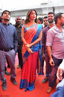 Puja Hegde looks stunning in Red saree at launch of Anutex shopping mall ~ Celebrities Galleries 115.JPG
