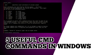 5 useful windows command you should know