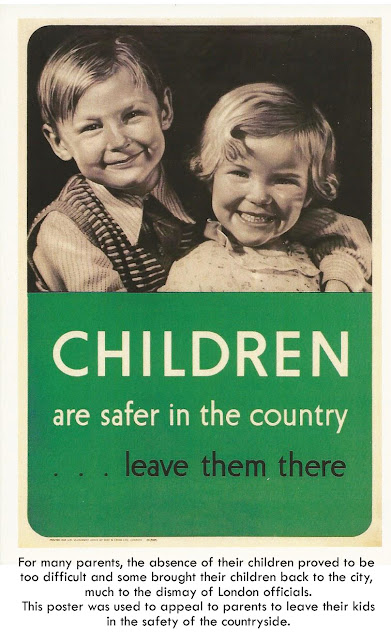 wartime poster of children
