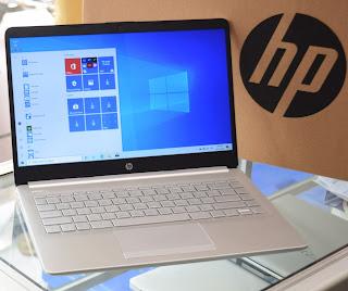 Jual Laptop HP 14s-dk0073AU ( Fullset ) di Malang