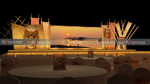 assamese themed Stage design 3