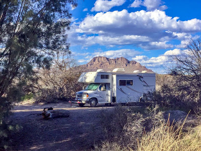Now boondocking at the Hot Well Dunes BLM Campground