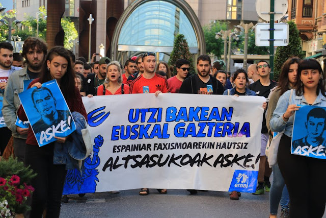 Manifestación por los condenados de Alsasua