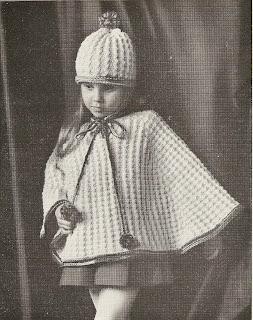 Vintage Girls Tam Poncho Pattern