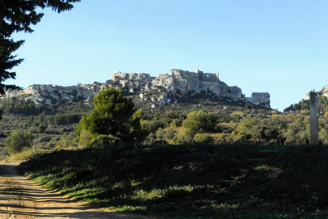 Christmas in Provence: View of Les Baux from Mas Sainte Berthe