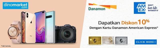 #Dinomarket - #Promo Diskon 10% Pakai Kartu Danamon American Express (s.d 20 Juli 2019)