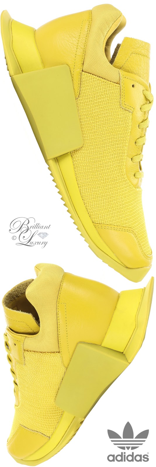 Brilliant Luxury ♦ Adidas by Rick Owens RO Level Runner Low II yellow sneakers