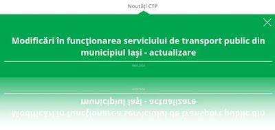 modificari program autobuze tramvaie ctp iasi starea de urgenta