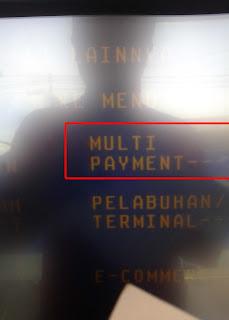 pilih menu multy payment