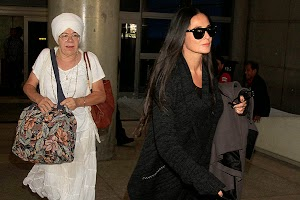 Demi Moore made a pilgrimage to India