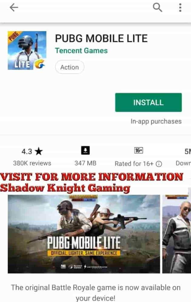 Pubg Mobile Lite Now Available On The Play Store In Some