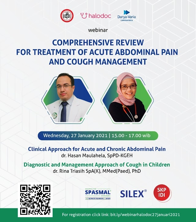 "Gratis SKP IDI Webinar ""Comprehensive Review for Treatment of Acute Abdominal Pain and Cough"""