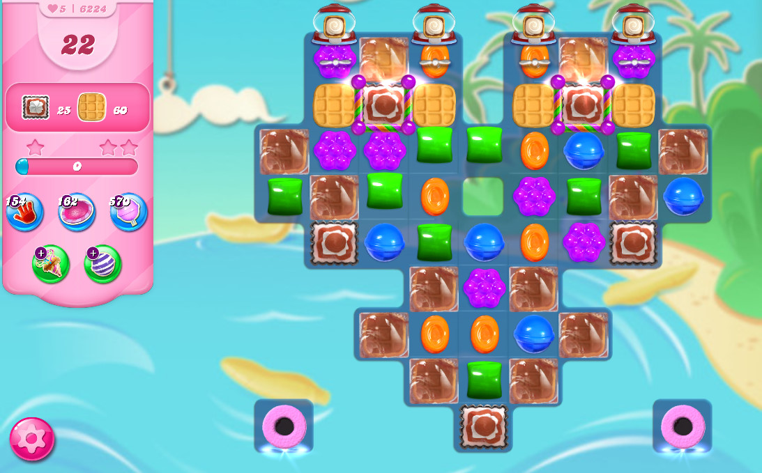 Candy Crush Saga level 6224