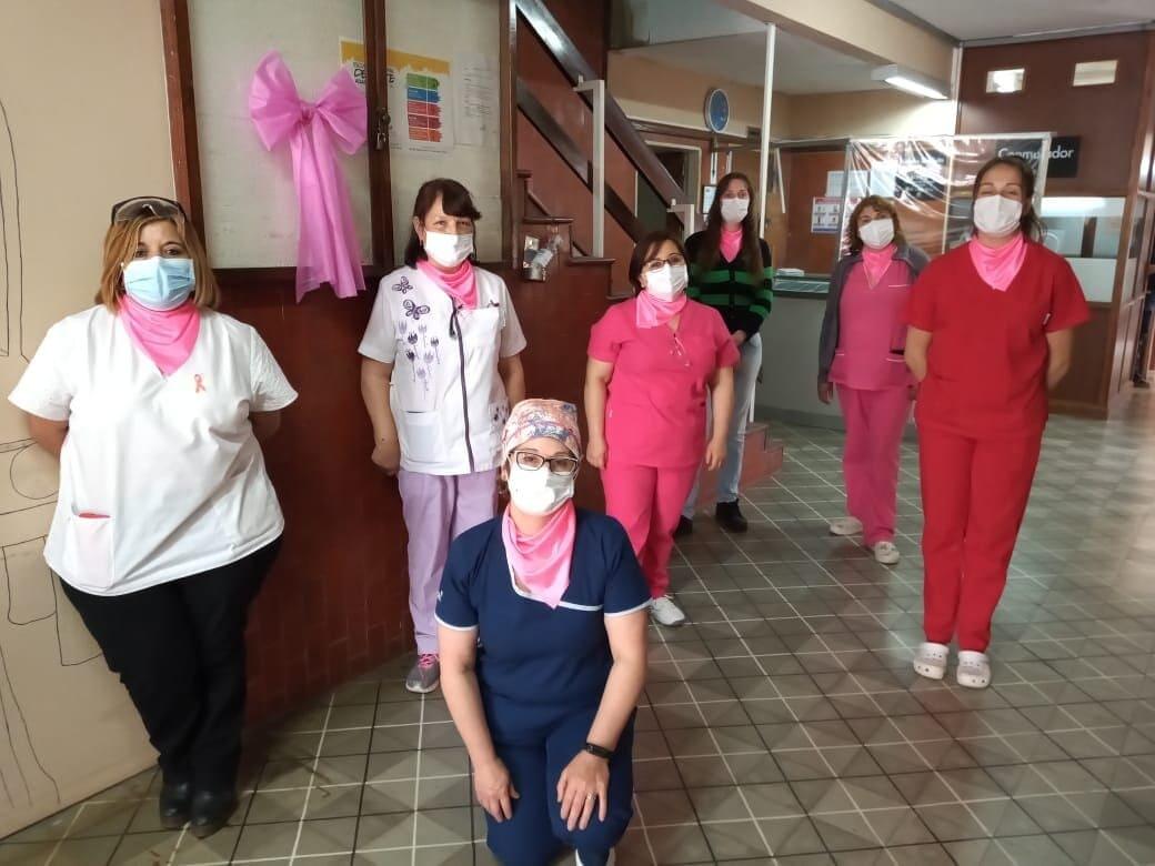 Enfermeras mostraron su apoyo a las acciones de LALCEC Balcarce