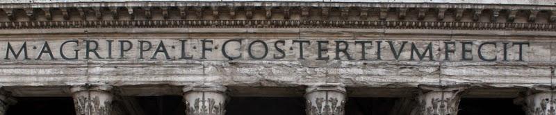 Panteón de Agripa. Inscripción