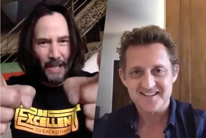 Keanu Reeves, y Alex Winter ( Bill y Ted) han mandado un mensaje para los graduados del autentido Instituto San Dimas